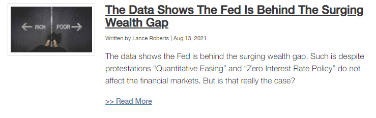 , Bulls Charge Ahead On Hopes Fed Stands Pat 08-13-21